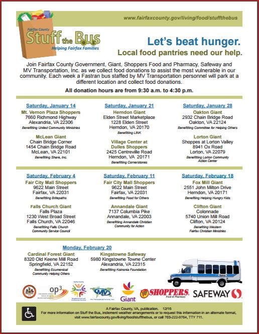 Help Us End Hunger - Stuff the Bus!